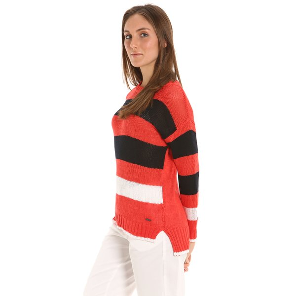 E212 Women's crew neck sweater in light cotton