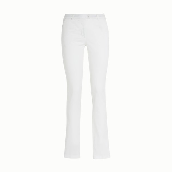 Women's trousers A2 in satin and elastic cotton