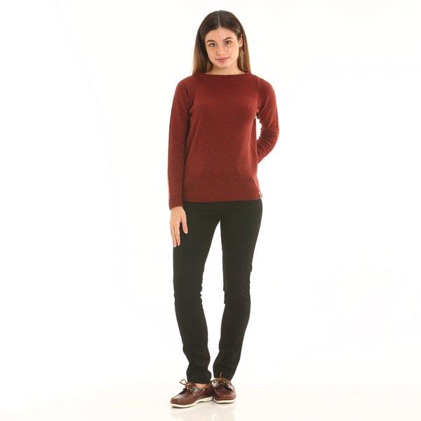Pantalon chino femme D854 de teinte unie