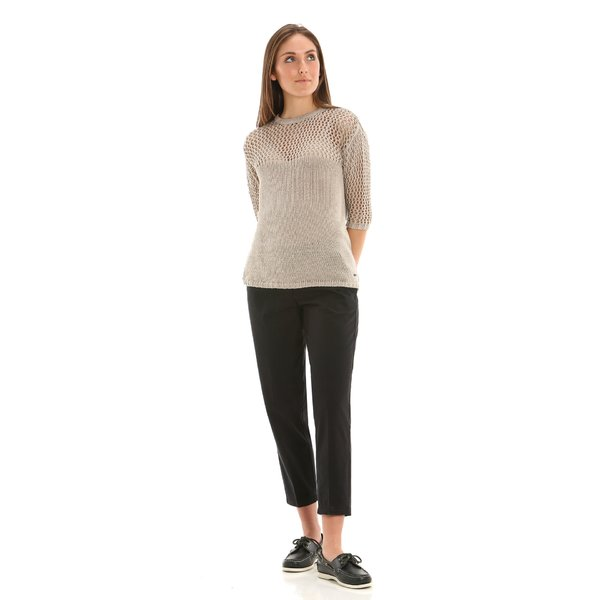 Pantalon femme E263 chino en twill de coton élastique