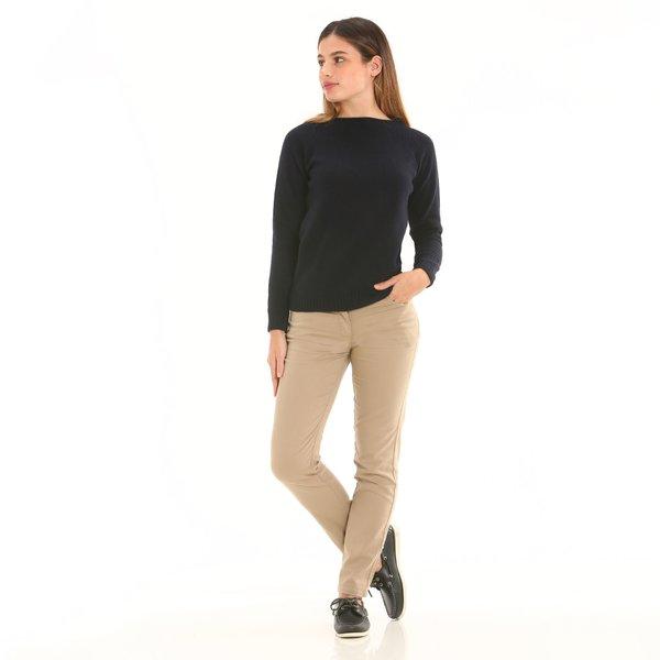 Damenhose F285 mit fünf Taschen aus Satin-Stretch-Gewebe