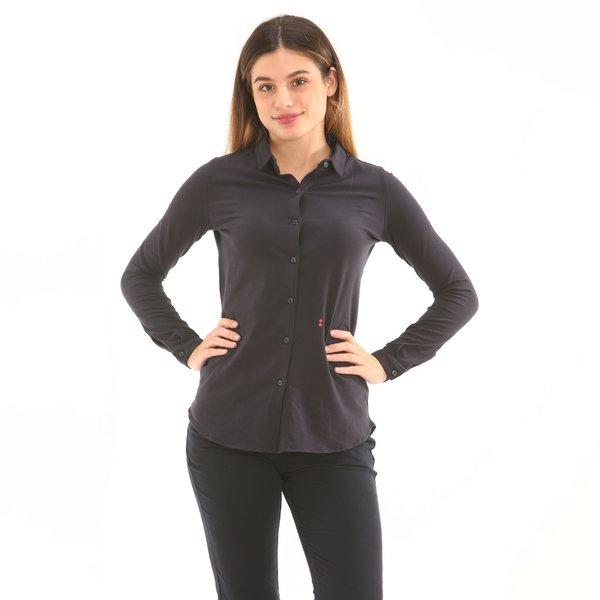 Camicia donna D753 in stretch jersey di cotone elasticizzato