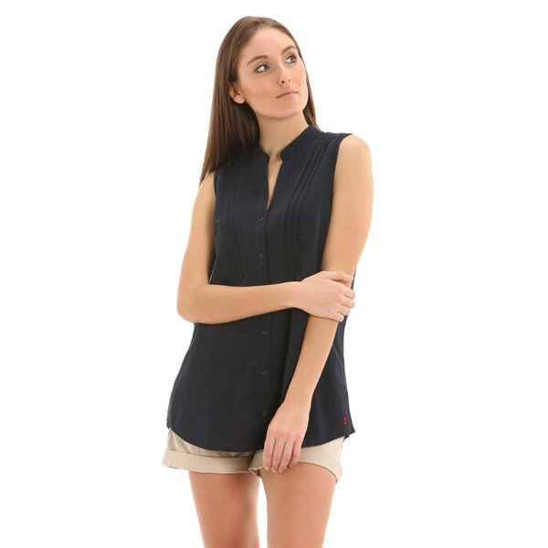 Camisa para mujer E260 con cuello mao