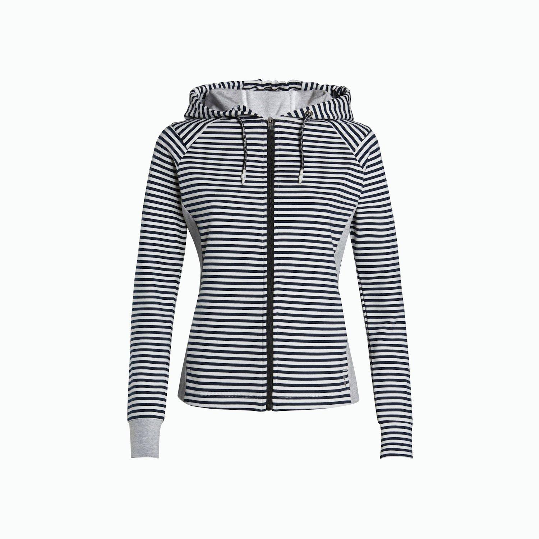 Sweatshirt A19 - Marineblau / Weiss
