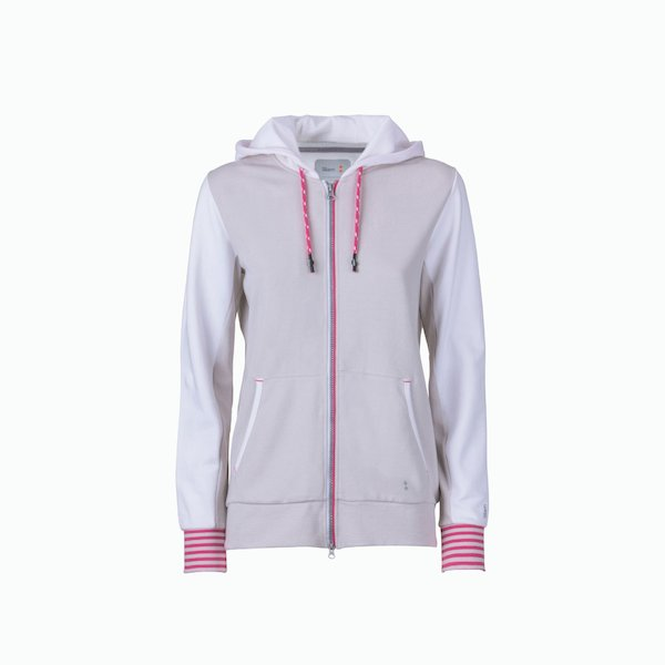 Women's sweatshirt C131 with zip with hood