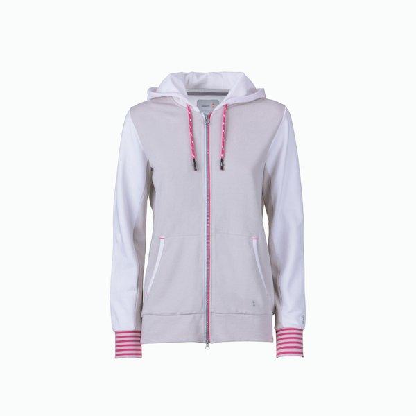 Women's sweatshirt C131 with zip with hood