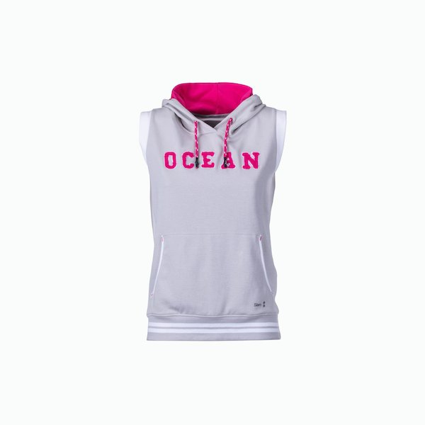 Women's sweatshirt C133 sleeveless with hood
