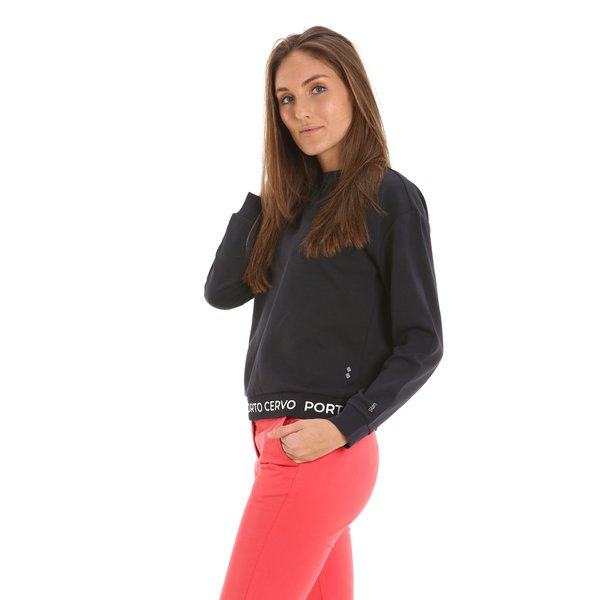 E222 women's sweatshirt in double interlock cotton