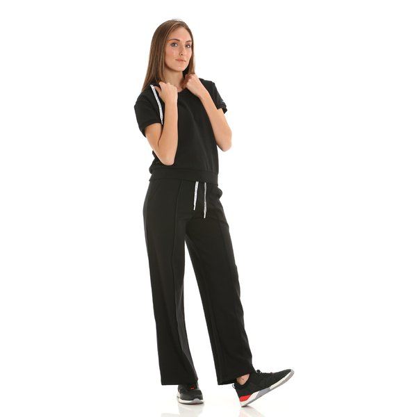 E226 women's wide-legged fleece sweatpants