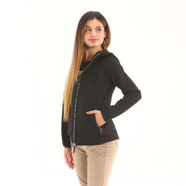 Damen Fleece-Sweatshirt F243 mit Kapuze