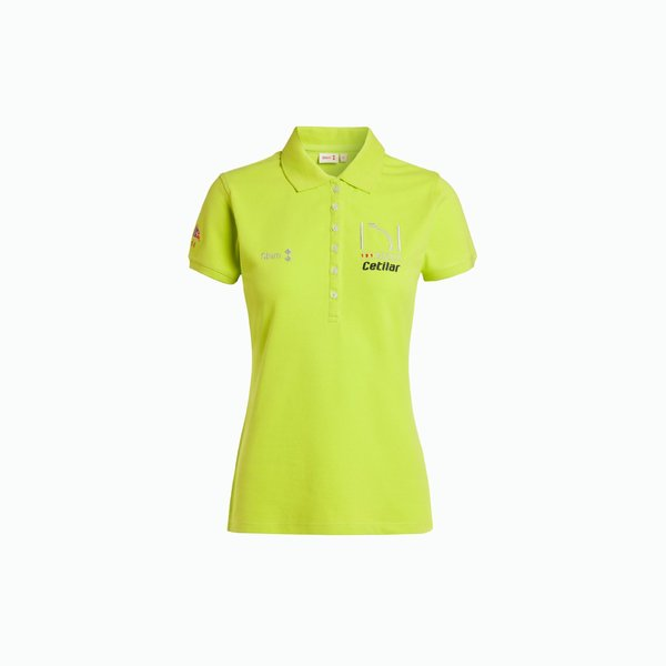151 Miglia Women's Polo Shirt in Neon yellow cotton