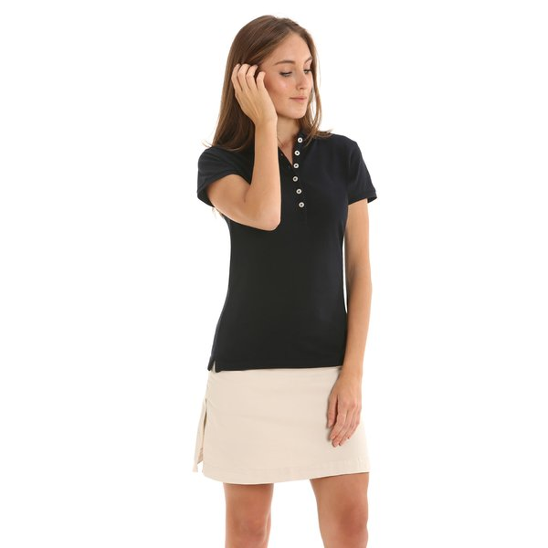 Roseland Mc New women's polo shirt with deep buttoning