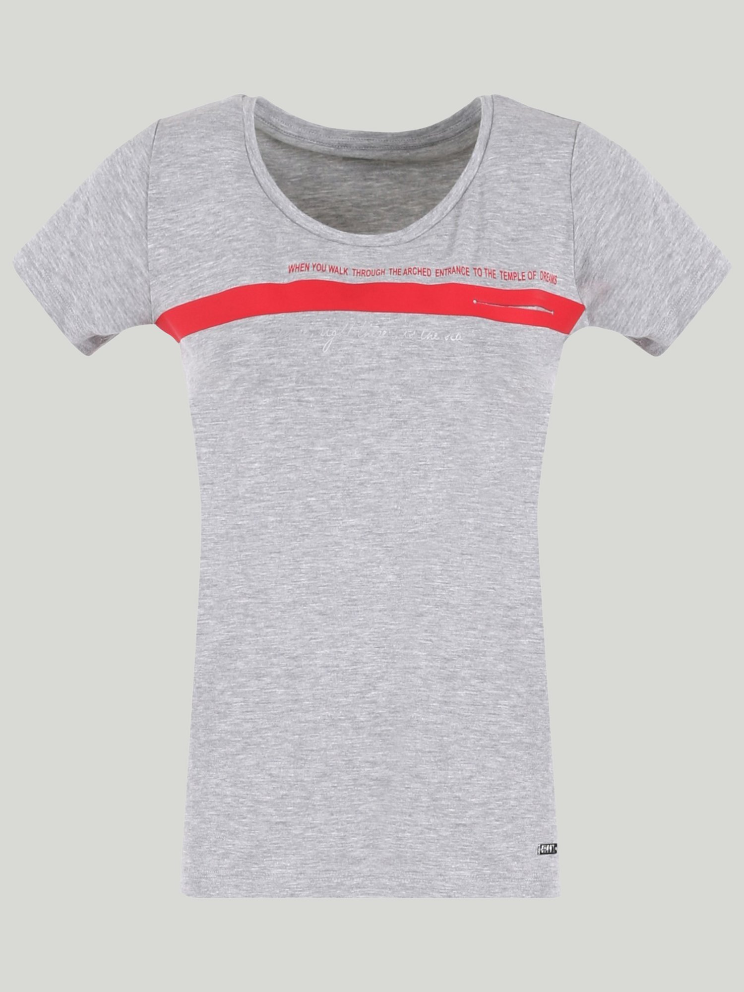 T-SHIRT LULABET - Light Grey Melange