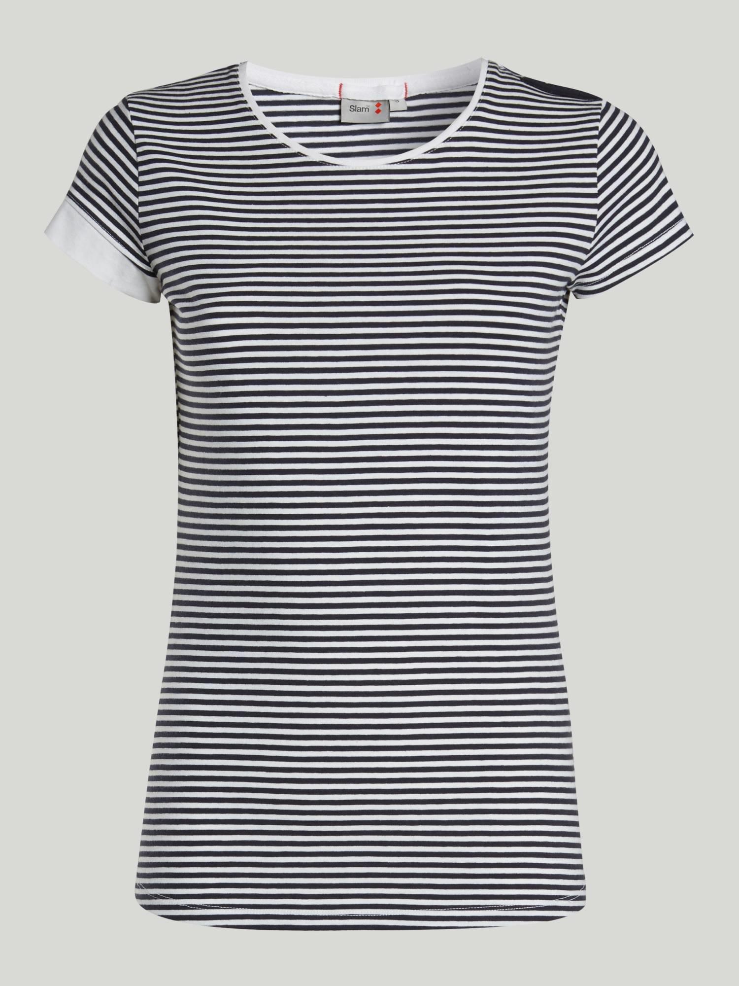 T-Shirt A119 - Marineblau / Weiss