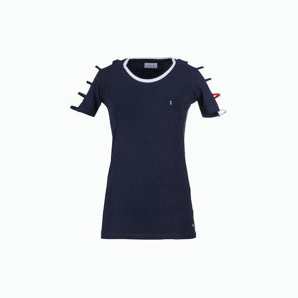 C125 Camiseta mujer en punto de algodón elástico