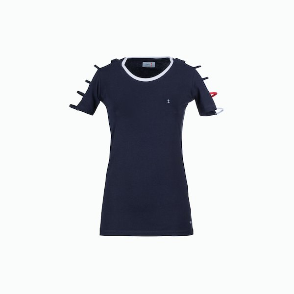 T-shirt donna C125 girocollo in stretch jersey