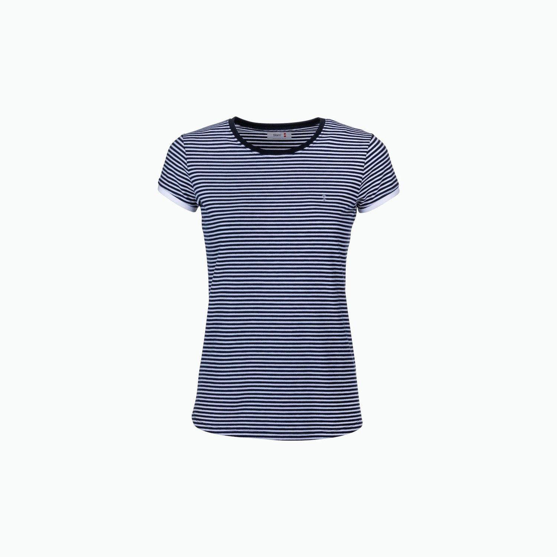 C189 T-Shirt - Marineblau / Weiss