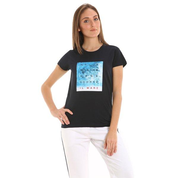 Camiseta para mujer E237 de manga corta en algodón