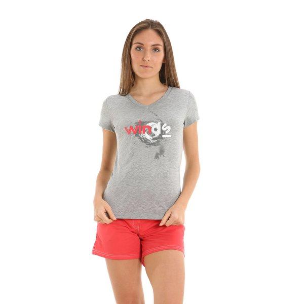 T-shirt donna E252 a V 100% cotone MEL