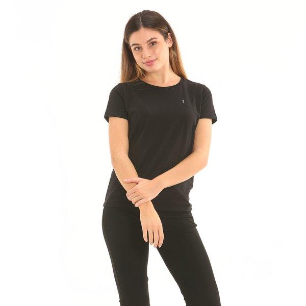Short-sleeve women's t-shirt F277 in stretch cotton jersey