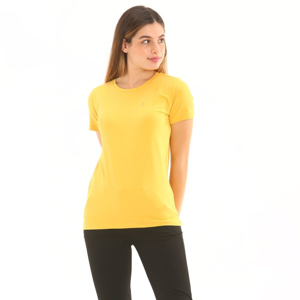 Short-sleeve women t-shirt F277 in stretch cotton jersey