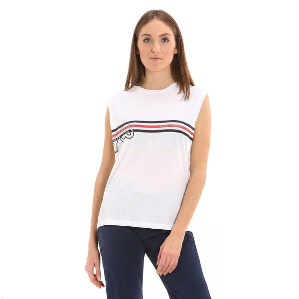 Camiseta para mujer G253 sin mangas y con estampado de motivo náutico