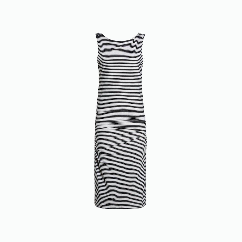 Dress A49 - Navy / White