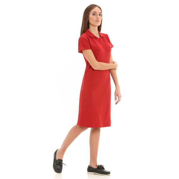 E280 women's dress in 100% cotton pique