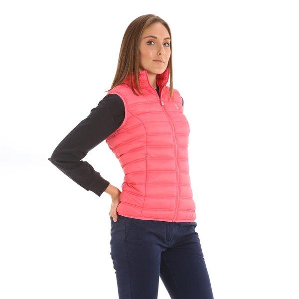 Chaleco E205 para mujer, ultraligero y con dos bolsillos laterales