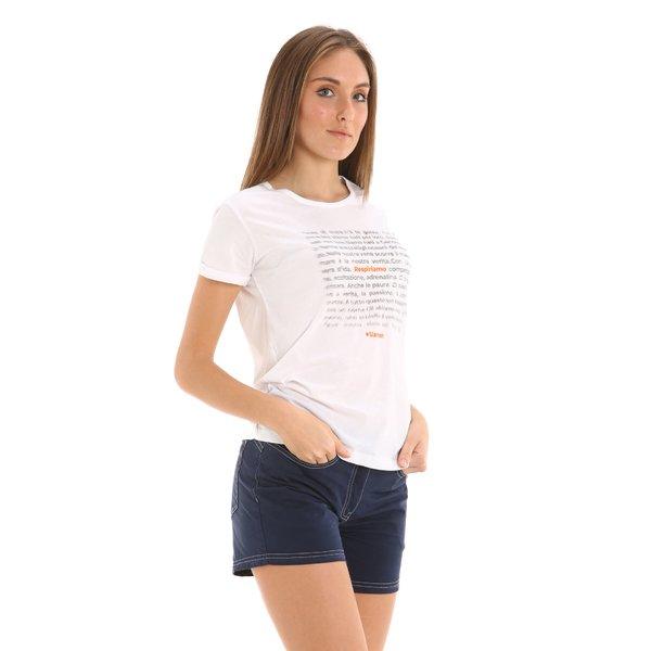 Bermudas para mujer E268 en sarga de algodón elástico