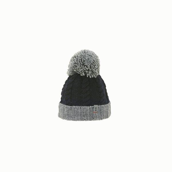 Cappello donna F450 in misto lana con pon-pon
