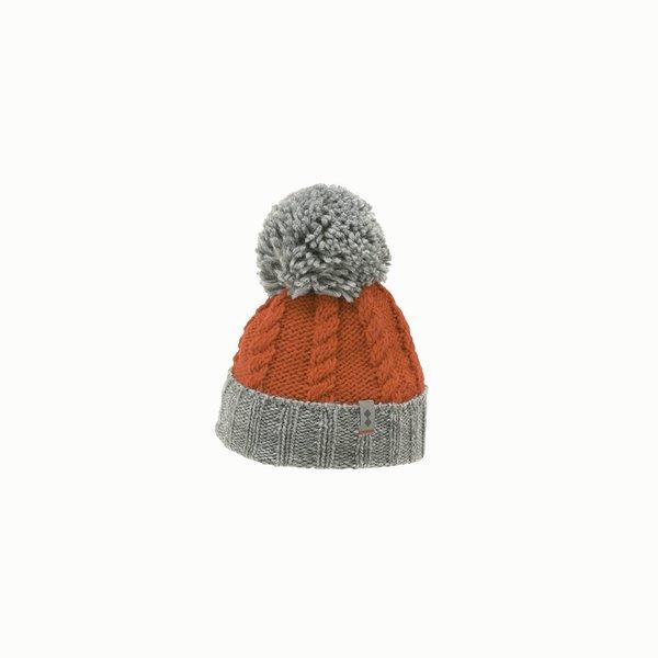 Bonnet femme F450 en laine mélangée avec pompon