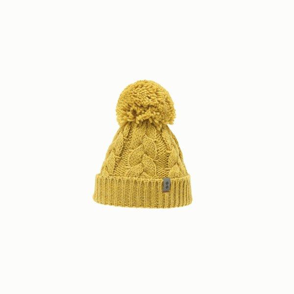 Cappello donna F451 in misto lana con pon-pon