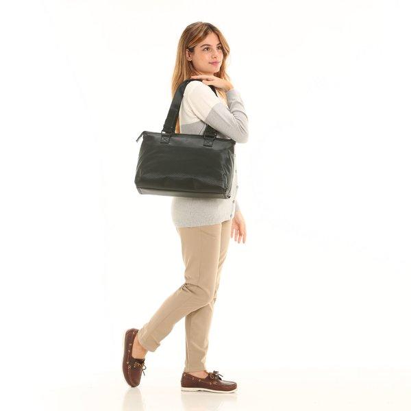 Bolsa tote para mujer D922 hidrorrepelente y de color negro