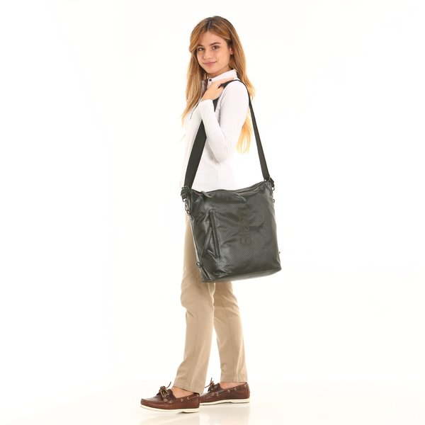 D924 3-WAY women's black bag with adjustable strap