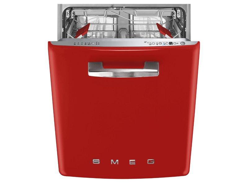 Lavavajillas integrado ST2FABPK2 Smeg Rojo