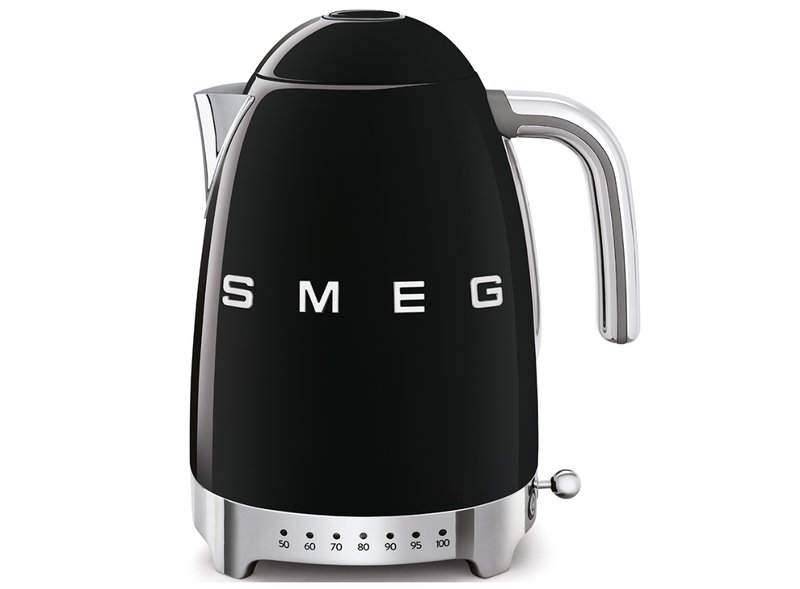 Hervidor Temperatura Regulable Smeg Negro