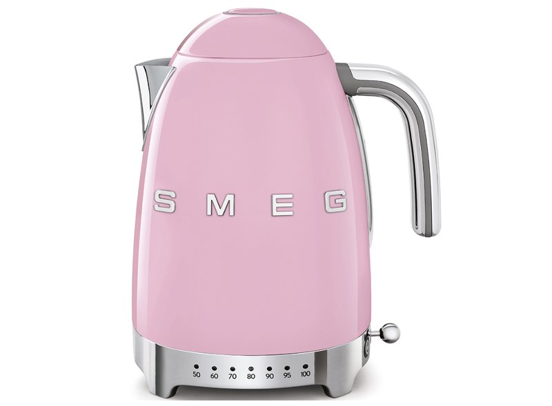 Hervidor Temperatura Regulable Smeg Rosa