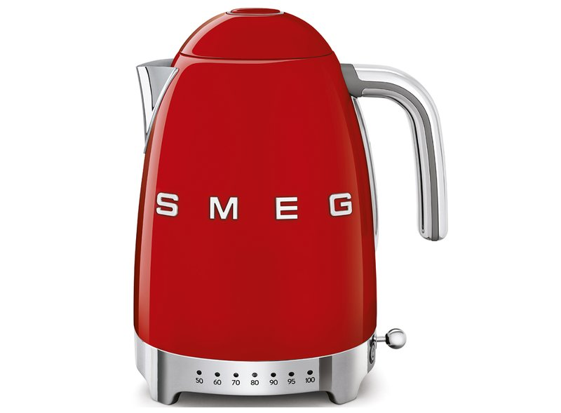 Hervidor Temperatura Regulable Smeg Rojo