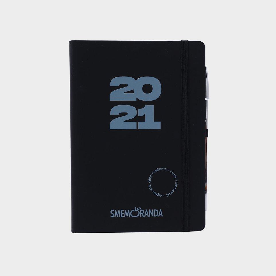 Smemoranda 12 Mesi 2021 Soft Giorn  12,9x18,7 Nera