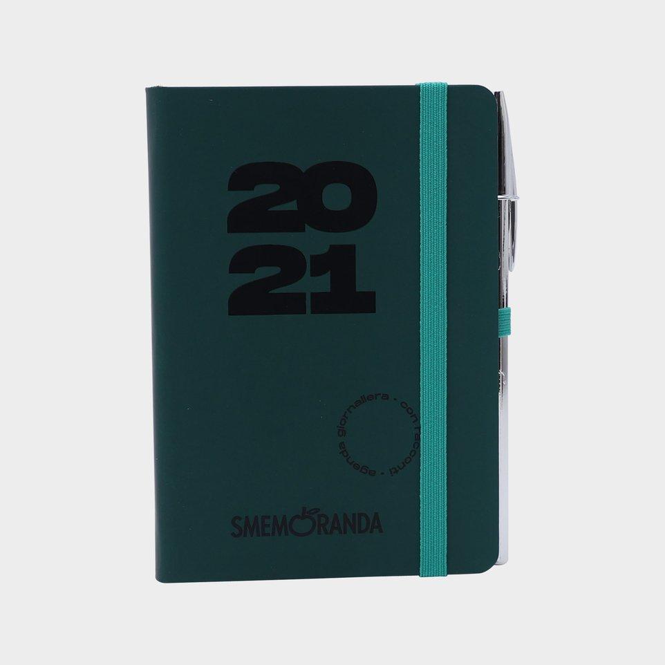Smemoranda 12 Mesi 2021 Soft Giorn 9,8x14,3 Verde