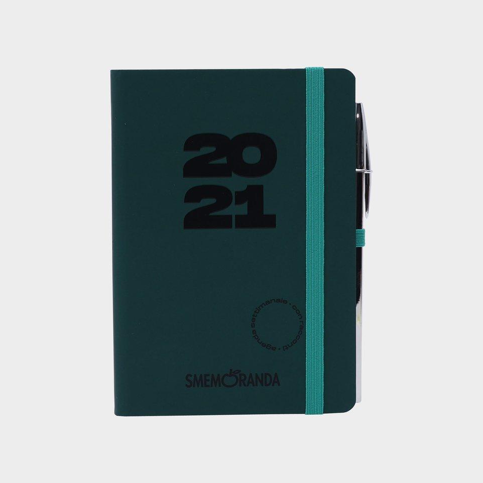 Smemoranda 12 Mesi 2021 Soft Sett 11,2x16,4 Verde