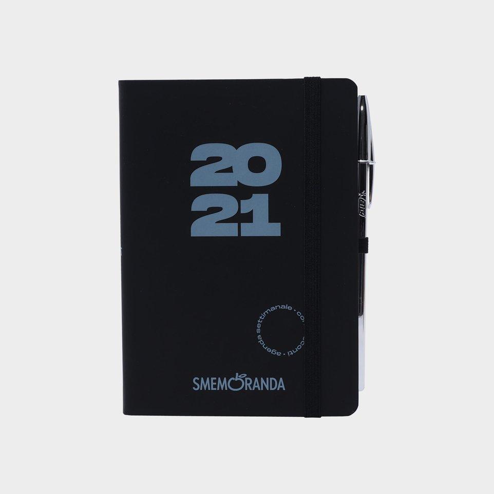 Smemoranda 12 Mesi 2021 Soft Sett 11,2x16,4 Nera