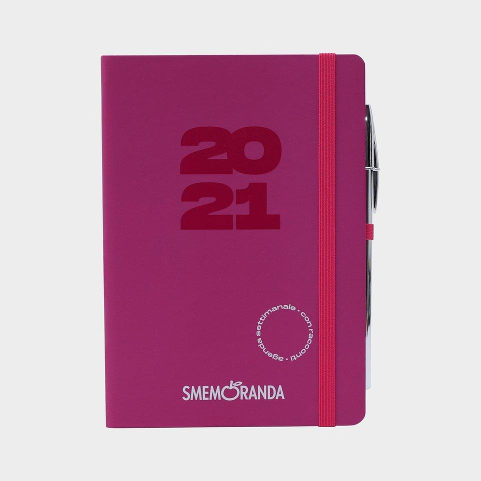 Smemoranda 12 Mesi 2021 Soft Sett 12,9x18,7 Magenta
