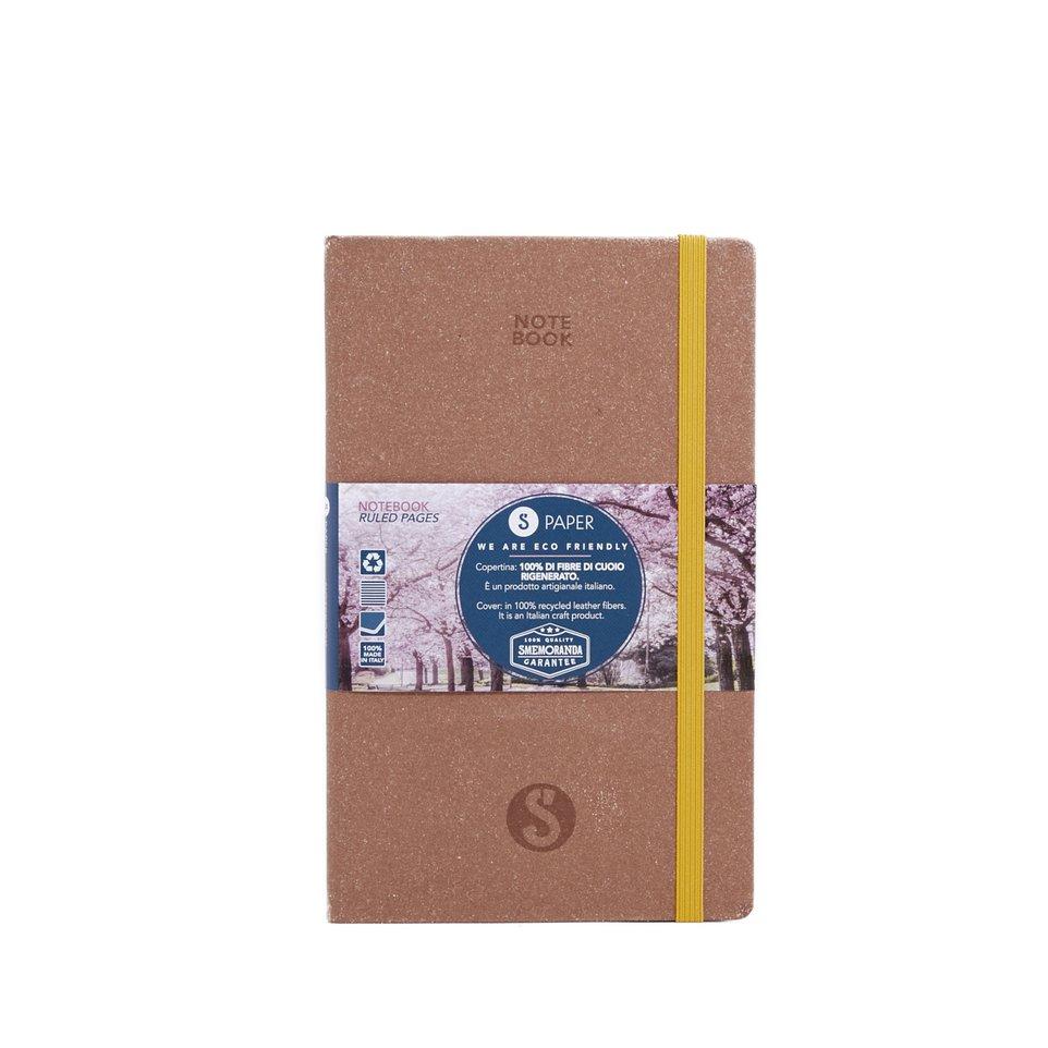 Taccuino S Paper Marrone Pagine a Righe Medium