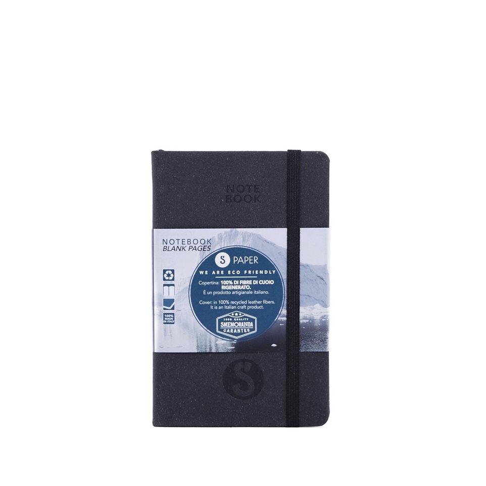 Taccuino S Paper Nero Pagine a Righe Pocket