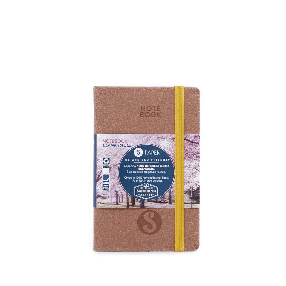 Taccuino S Paper Marrone Pagine Bianche Pocket