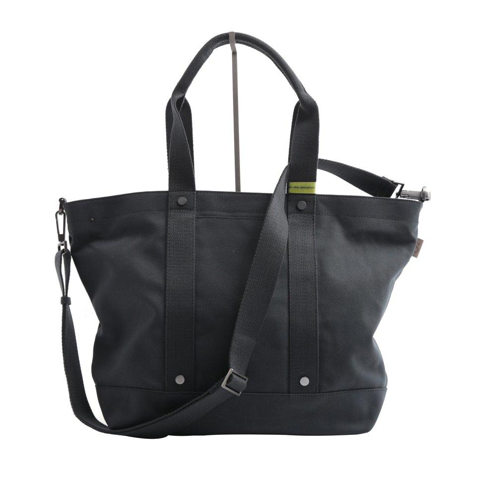 Shopping bag ECO antracite con tracolla removibile e tasca imbottita porta pc/tablet