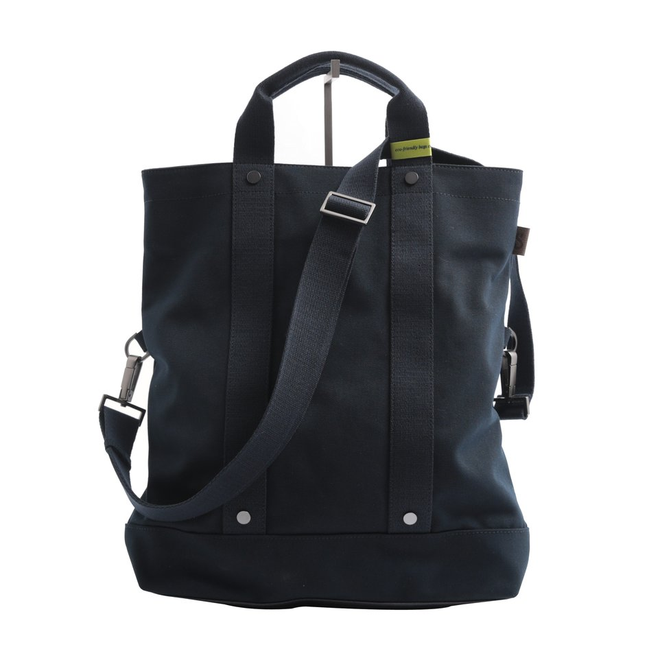 Messanger ECO blu con maniglia, tracolla removibile e tasca imbottita porta pc/tablet