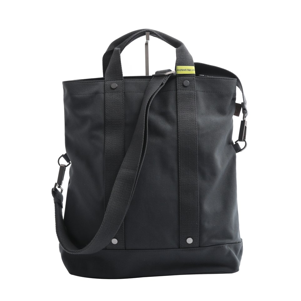 Messanger ECO antracite con tracolla removibile, maniglia e  tasca imbottita porta pc/tablet